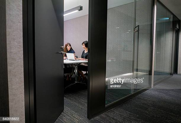 Spying at an Asian business meeting