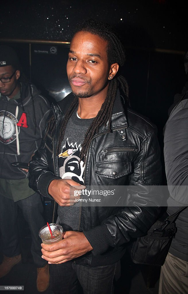 DJ Spynfo attends Wiz Khalifa's 'O.N.I.F.C.' Listening Party at The West Way on November 26, 2012 in New York City.