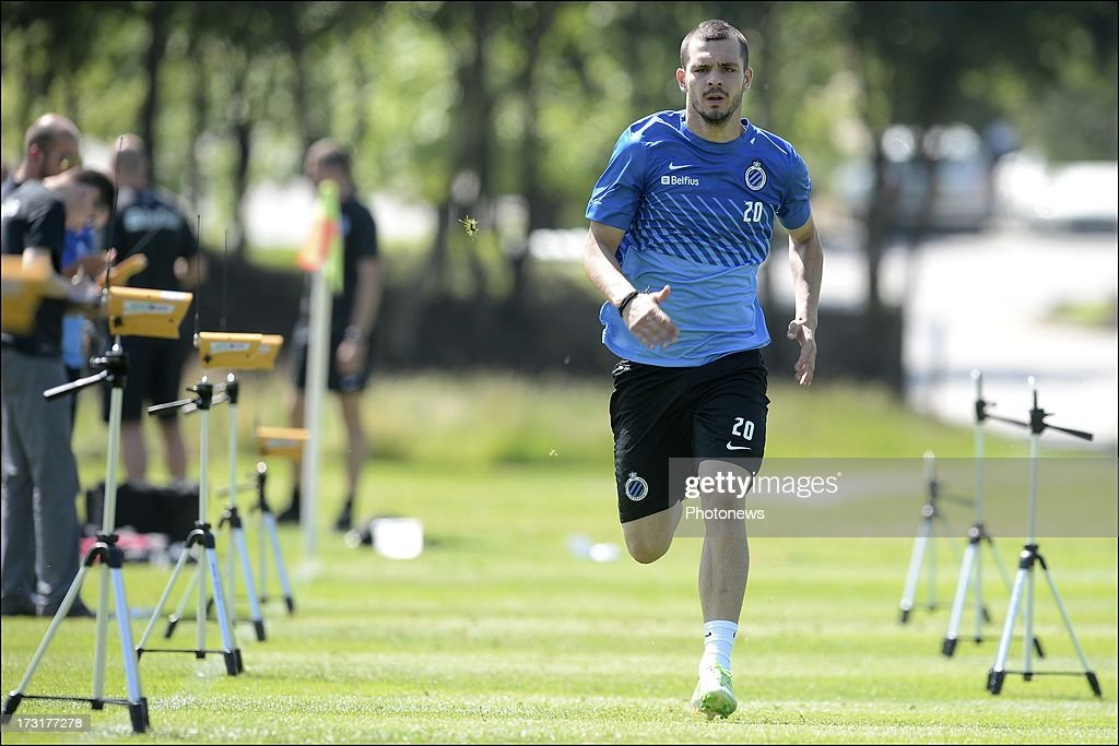Spyros Fourlanos of Club Brugge KV in action during the second day of a Club Brugge summer camp training session on July 9, 2013 in Manchester, England.