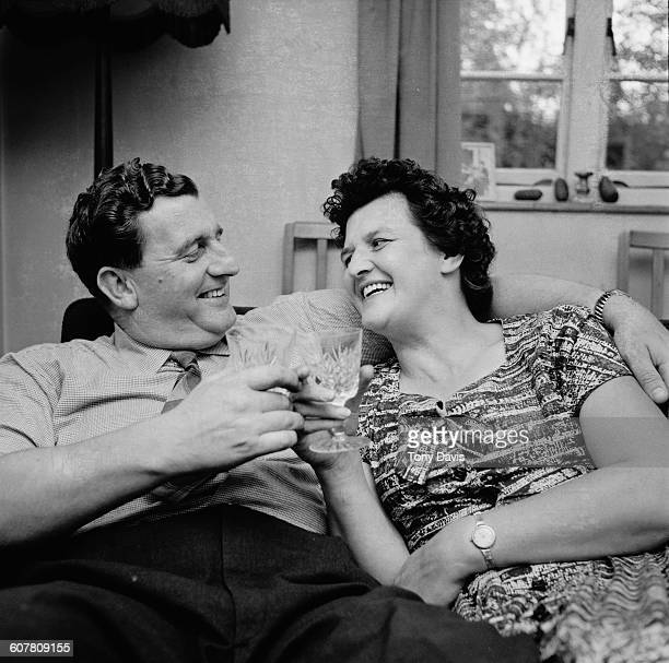Squadron Leader Hedley George Hazelden DFC with his wife Emma UK 31st August 1958 On 10th August Hazelden had been forced to crash land a prototype...