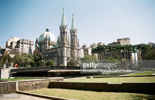 Square and cathedral : Foto de stock