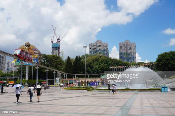Square and Fountain at Window of the World, Shenzhen, China
