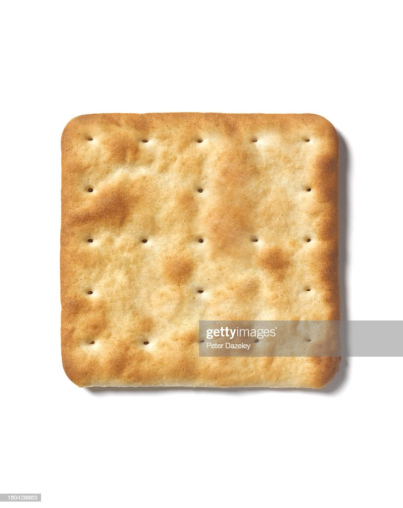 Square cracker with copy space : Stock Photo
