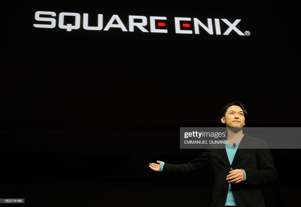 Square Enix technical director Yoshihisa Hashimoto talks as Sony introduces the PlayStation 4 at a news conference February 20, 2013 in New York.