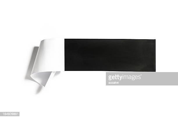 square Loch im Papier