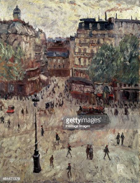 'A Square in Paris' 1907 Found in the collection of the State A Pushkin Museum of Fine Arts Moscow
