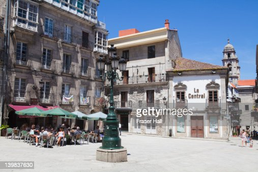 Square in Vigo, Galicia, Spain : Stock Photo