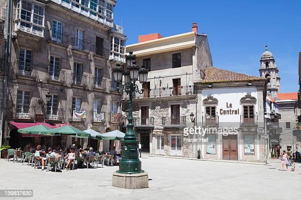 Square in Vigo, Galicia, Spain