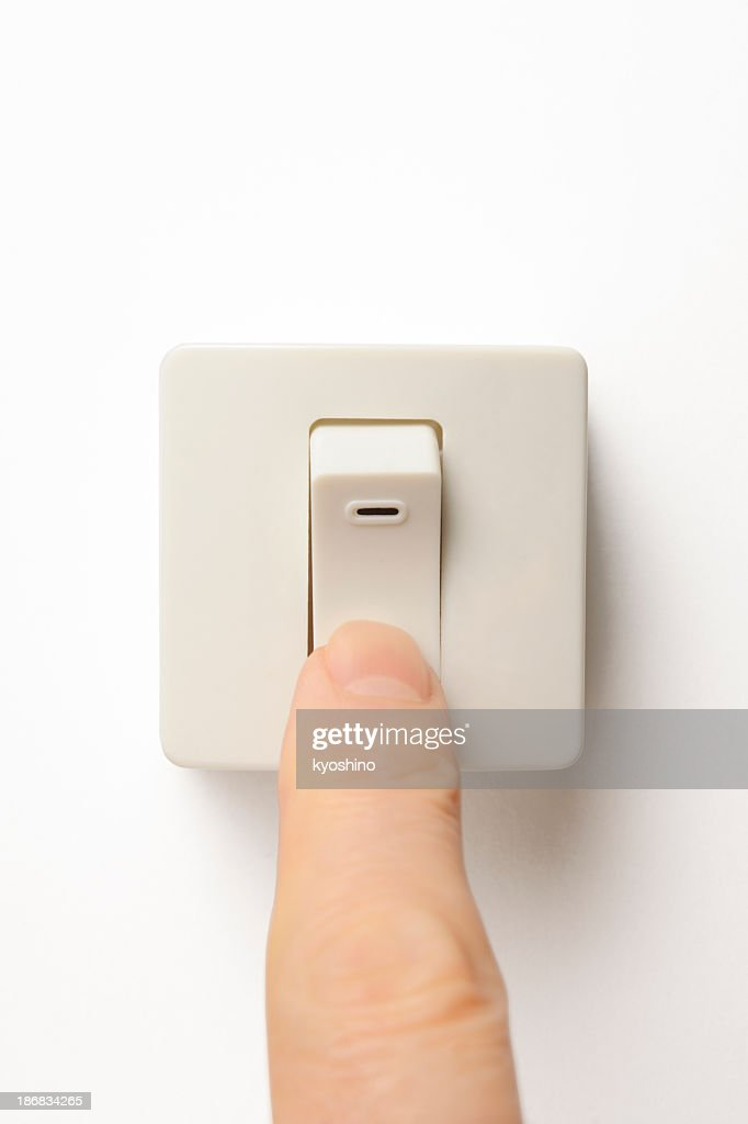 Square light switch stock photo getty images