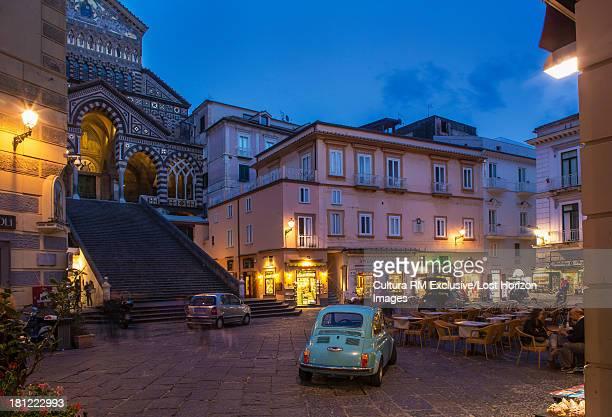 Square of Amalfi Cathedral, Amalfi, Campania, Italy