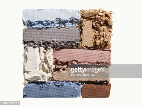 Square of colored powders : Foto stock