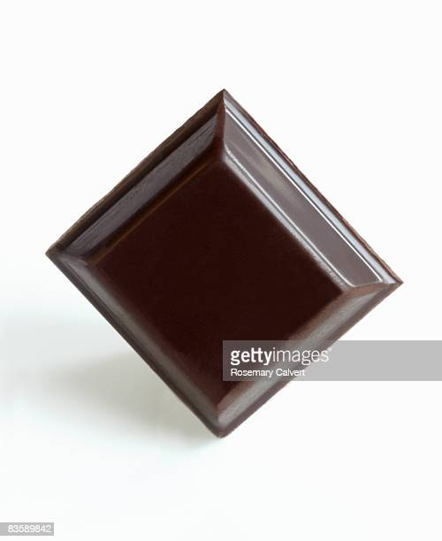 Square of dark chocolate.