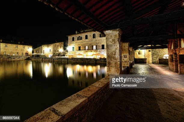 Square of sources in Bagno Vignoni, Tuscany, Italy