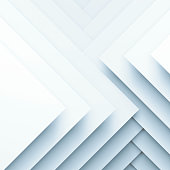 Abstract white square background, geometric pattern of square paper layers. 3d illustration
