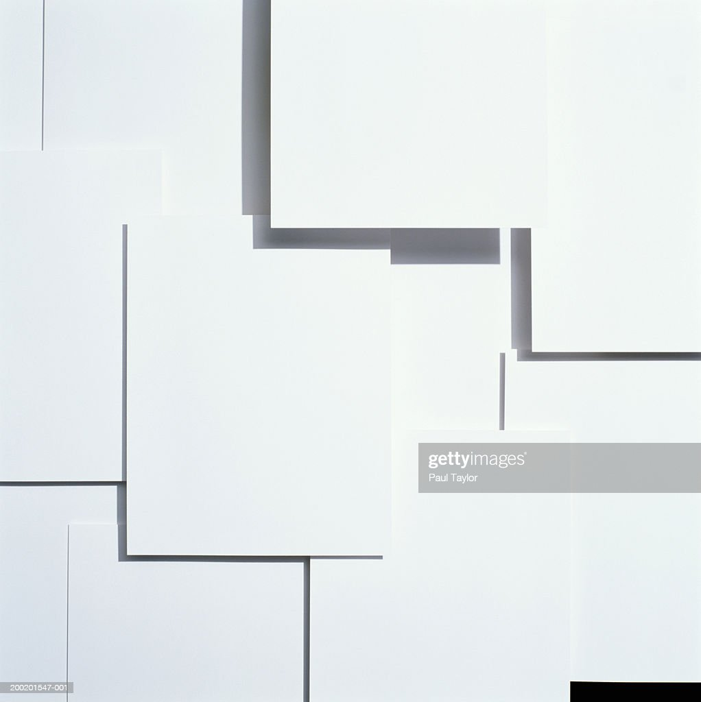 Square pieces of paper (full frame) : Stock Photo