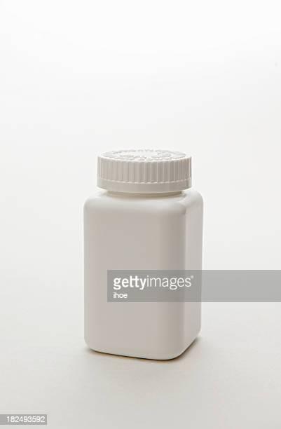 Square plastic medicine container