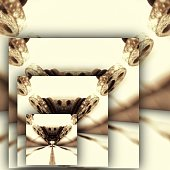 Abstract composition based on a wire tensioner resembling an insect head