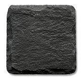 Square slate stand isolated on a white background