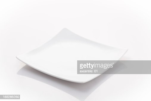 square small plate isolated on white