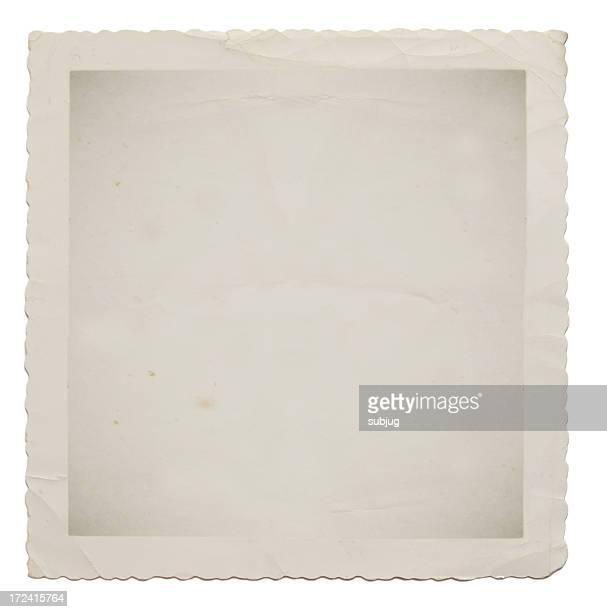 A square vintage empty photograph