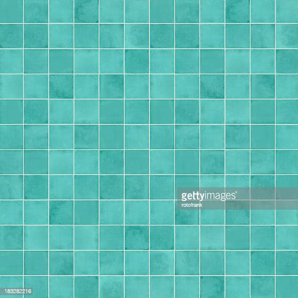 Squares in different shades of aqua blue