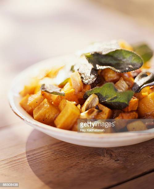 Squash and fried sage