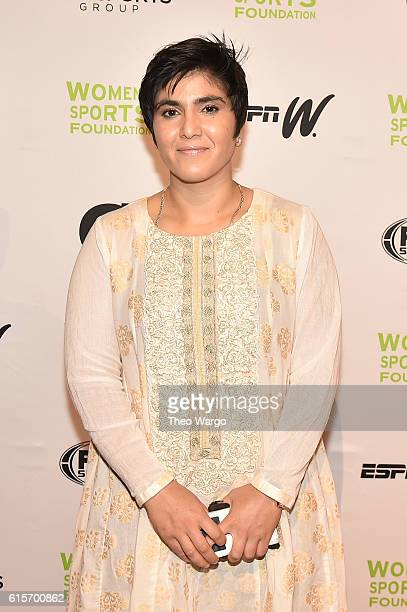 Squash player Wilma Rudolph Courage Award recipient Maria Toorpakai attends the 37th Annual Salute To Women In Sports Gala at Cipriani Wall Street on...