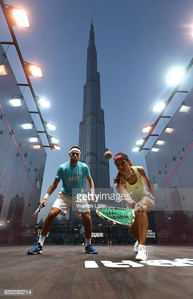 Squash world number one Mohamed Elshorbagy of Egypt took on eight time world champion Nicol David of Malaysia in an exhibition match after the...