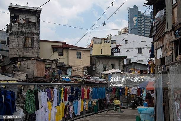 A squatter settlement Manila Philippines