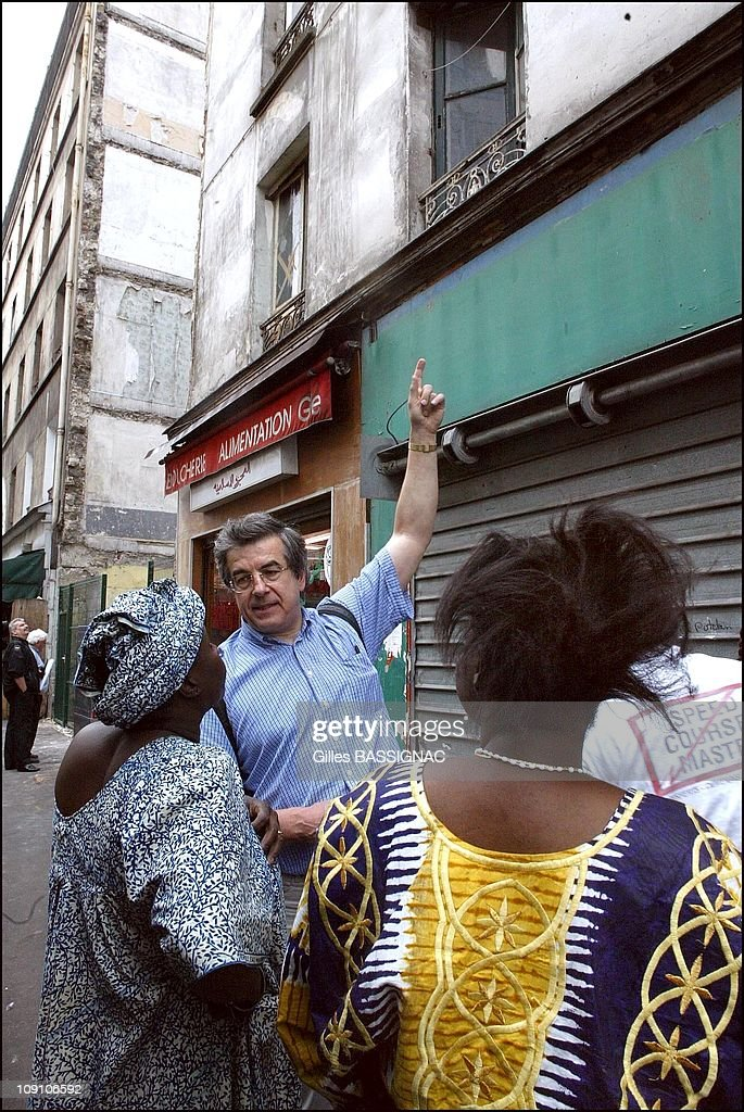 Squatters On 13 Aubervilliers Street In Paris Are Ousted By The Police And Relocated To Ordener Street In Police Buses On June 27Th 2002 In Paris...
