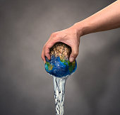 Squeezing, Earth, Water, Human Hand