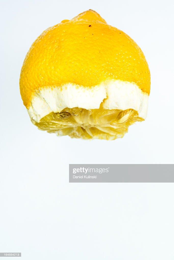 Squeezed lemon. : Stock Photo