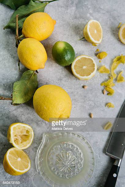 Squeezing, cutting Lemons and limes