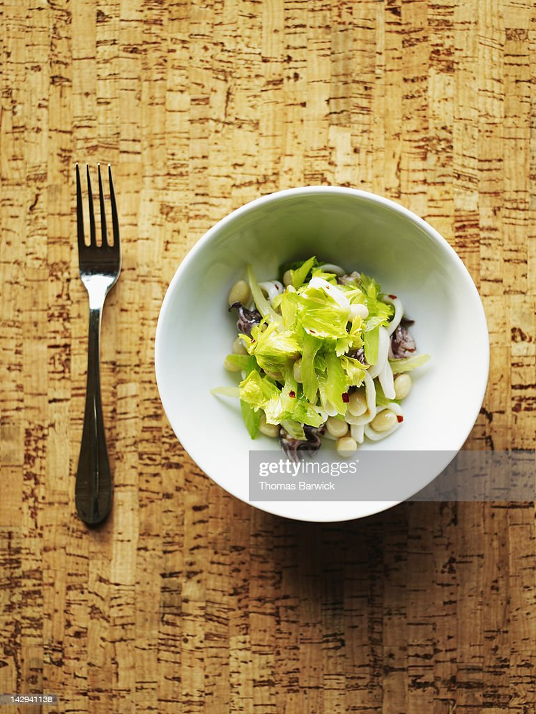 Squid salad with controne beans : Stock Photo
