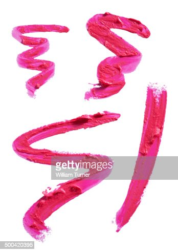 Squiggles and smears of pink lipstick.