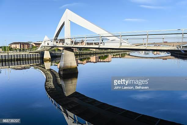 Squiggly Bridge or Tradeston Bridge, Glasgow