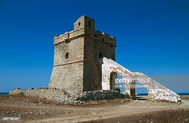 Squillace tower 16th century Porto Cesareo Salento Peninsula Apulia Italy