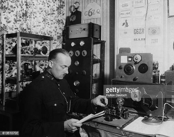PC Squire of the Gloucestershire Police a member of the Radio Society of Great Britain and holder of a transmitting license is sending out very slow...