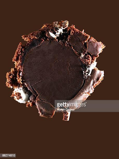 Squished chocolate cupcake