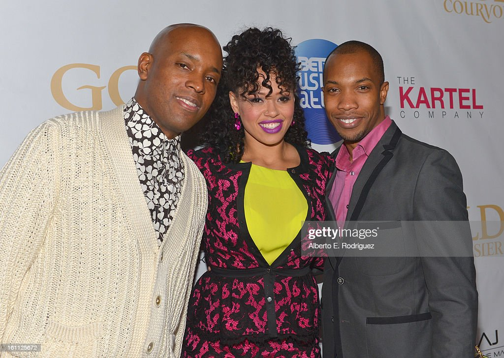 Sr. director of programming Kelly Griffin, singer <a gi-track='captionPersonalityLinkClicked' href=/galleries/search?phrase=Elle+Varner&family=editorial&specificpeople=5926946 ng-click='$event.stopPropagation()'>Elle Varner</a> and make-up artist AJ Crimson attend the BET Music Matters Grammy Showcase on February 8, 2013 in Los Angeles, California.