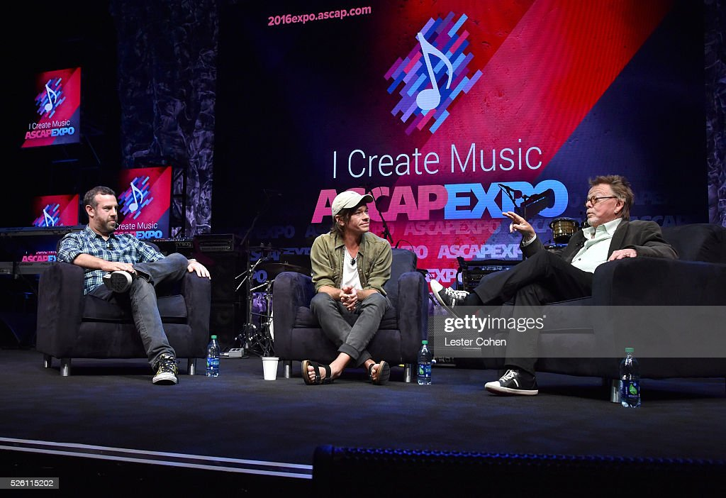 Sr. Director, Pop/Rock, Membership, Jason Silberman moderates an onstage discussion with singer-songwriter <a gi-track='captionPersonalityLinkClicked' href=/galleries/search?phrase=Nate+Ruess&family=editorial&specificpeople=6897270 ng-click='$event.stopPropagation()'>Nate Ruess</a> and ASCAP President/Chairman <a gi-track='captionPersonalityLinkClicked' href=/galleries/search?phrase=Paul+Williams+-+Auteur-compositeur&family=editorial&specificpeople=5853768 ng-click='$event.stopPropagation()'>Paul Williams</a> during the 2016 ASCAP 'I Create Music' EXPO on April 29, 2016 in Los Angeles, California.