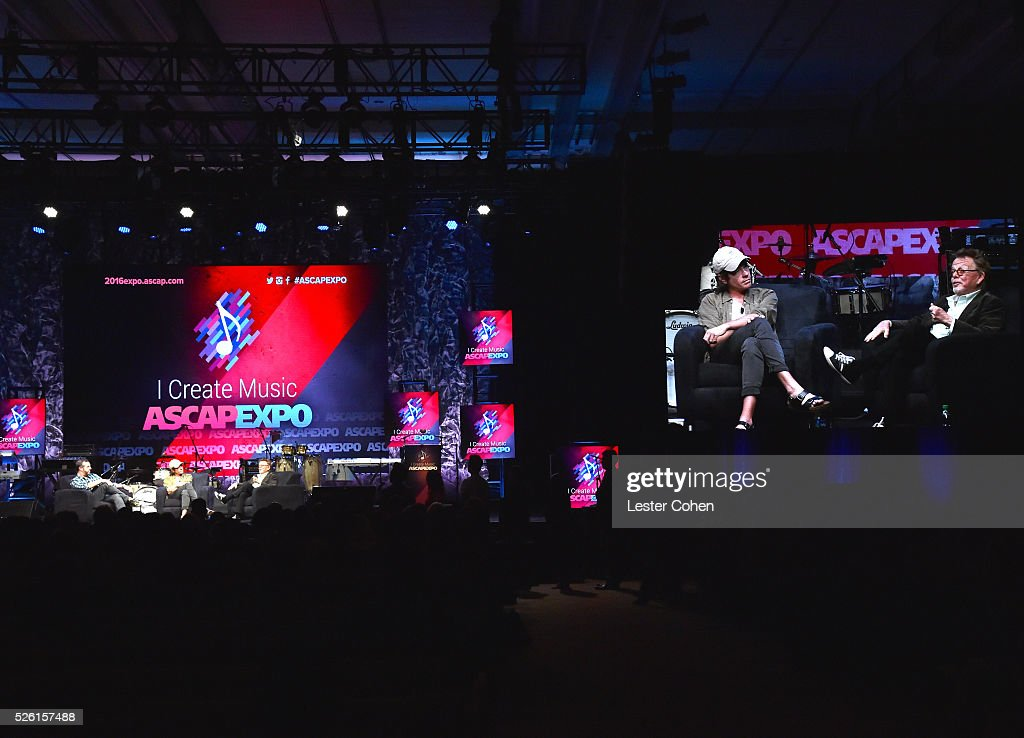Sr. Director, Pop/Rock, Membership,Jason Silberman moderates an onstage discussion with singer-songwriter <a gi-track='captionPersonalityLinkClicked' href=/galleries/search?phrase=Nate+Ruess&family=editorial&specificpeople=6897270 ng-click='$event.stopPropagation()'>Nate Ruess</a> and ASCAP President/Chairman <a gi-track='captionPersonalityLinkClicked' href=/galleries/search?phrase=Paul+Williams+-+Compositor&family=editorial&specificpeople=5853768 ng-click='$event.stopPropagation()'>Paul Williams</a> during the 2016 ASCAP 'I Create Music' EXPO on April 29, 2016 in Los Angeles, California.