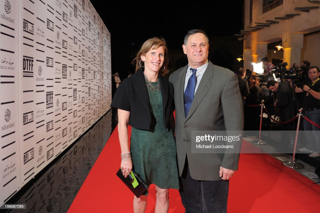 Sr. V.P., Studio Relations & Special Project TFF Patty Newburger and TFF Co-founder Craig Hatkoff attends the opening night ceremony and gala screening of 'The Reluctant Fundamentalist' during the 2012 Doha Tribeca Film Festival at Al Mirqab Hotel on November 17, 2012 in Doha, Qatar.