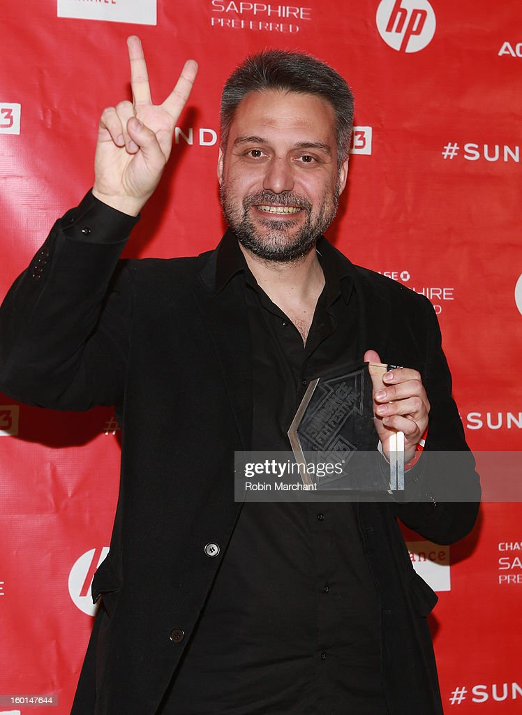 Srdan Golubovic poses with the World Cinema Dramatic: Special Jury Award for Ciricles (Krugovi) at the Awards Night Ceremony during the 2013 Sundance Film Festival at Basin Recreation Field House on January 26, 2013 in Park City, Utah.