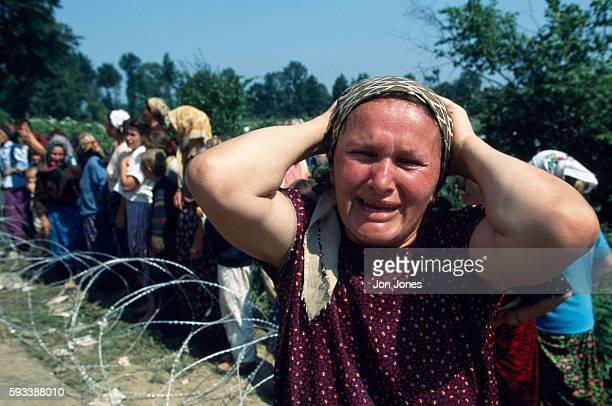 Srebrenica refugees arrive in Tuzla