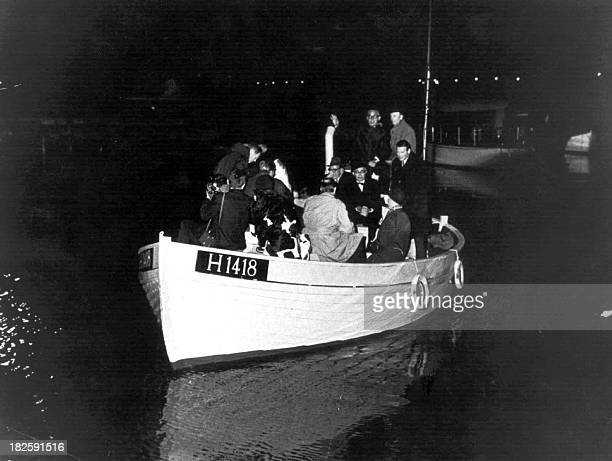 Sören BILLING This 1943 photo shows a boat carrying people during the escape across the Oresound of some of 7000 Danish Jews who fled to safety in...