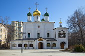 Cathedral of the presentation of the Vladimir icon of the Mother of God in Sretensky monastery, Moscow, Russia