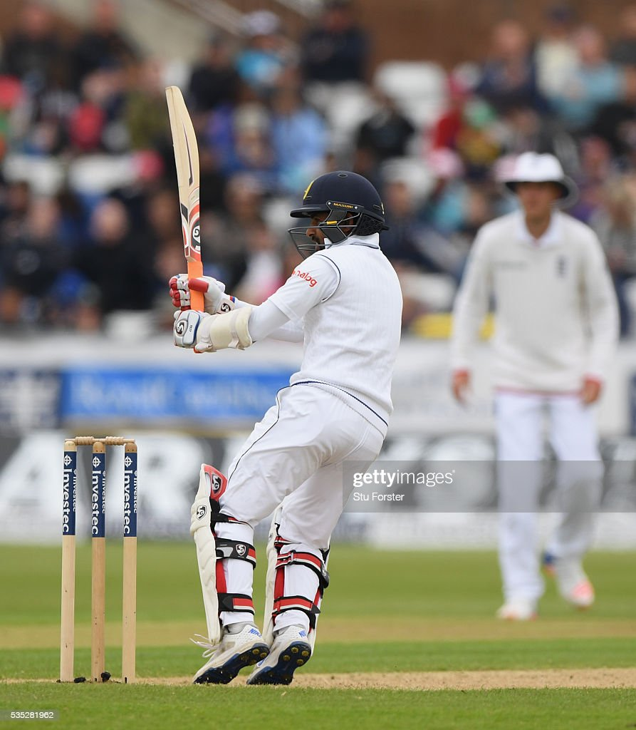 Sri Lanka batsman Kaushal Silva picks up some runs during day three of the 2nd Investec Test match between England and Sri Lanka at Emirates Durham ICG on May 29, 2016 in Chester-le-Street, United Kingdom.