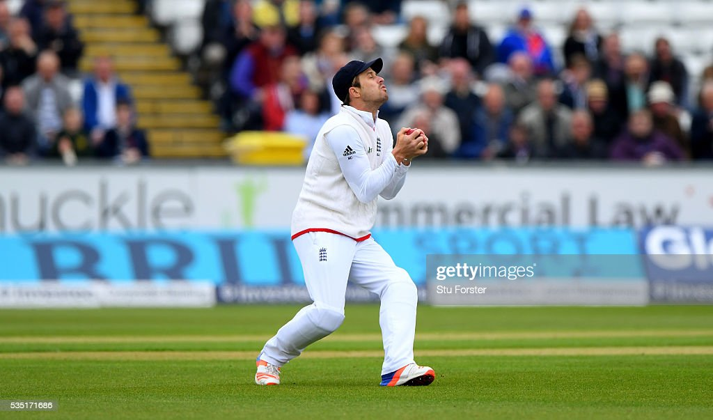 Sri Lanka batsman Lahiru Thirimanne (not pictured) is caught by <a gi-track='captionPersonalityLinkClicked' href=/galleries/search?phrase=Nick+Compton&family=editorial&specificpeople=654760 ng-click='$event.stopPropagation()'>Nick Compton</a> during day three of the 2nd Investec Test match between England and Sri Lanka at Emirates Durham ICG on May 29, 2016 in Chester-le-Street, United Kingdom.