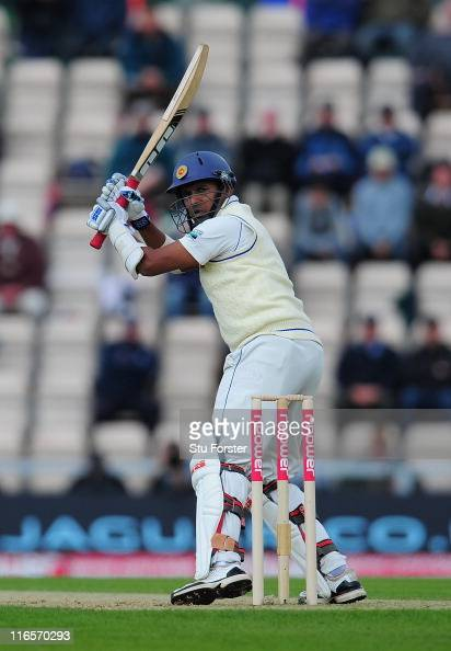 Sri Lanka batsman Thilan Samaraweera picks up some runs during day one of the 3rd npower Test match between England and Sri Lanka at the Rosebowl on...